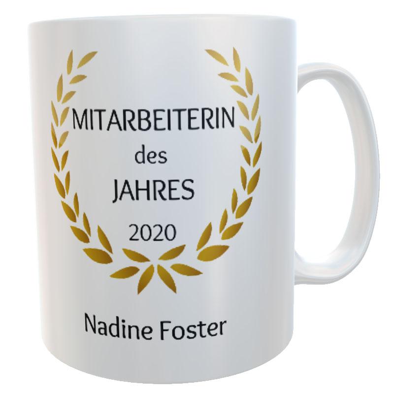 Tasse Mitarbeiterin des Jahres mit Name